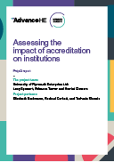 Assessing the impact of accreditation on institutions