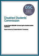 Disabled Students' Commission Annual Report 2020-2021: Enhancing the disabled student experience