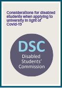 Considerations for disabled students when applying to university in light of Covid-19 (PDF)