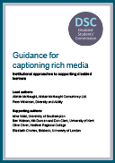 Guidance for captioning rich media
