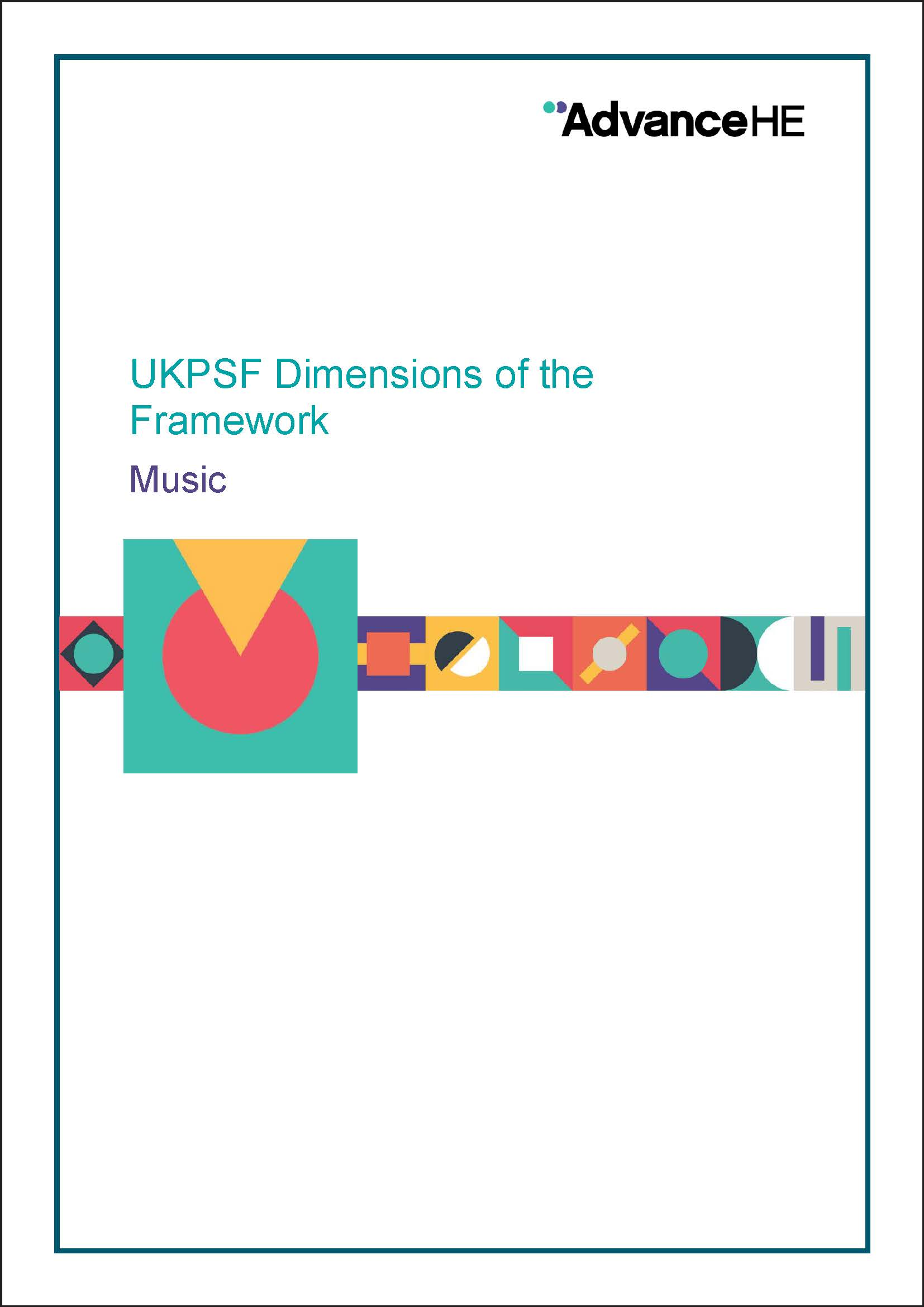 UKPSF Dimensions of the Framework - Music
