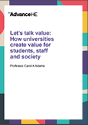 Let's talk value: How universities create value for students, staff and society