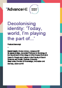 Podcast transcript: Decolonising identity: today, world, I'm playing the part of...