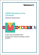 UKPSF Dimensions of the Framework – Doctoral Supervisors