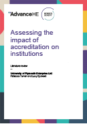 Assessing the impact of accreditation on institutions - Literature review