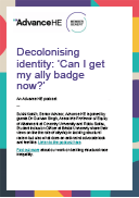 Decolonising identity: can i get my ally badge now?