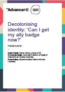 Podcast transcript: Decolonising identity: can i get my ally badge now?