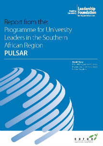 Report from the: Programme for University Leaders in the Southern African Region (PULSAR)