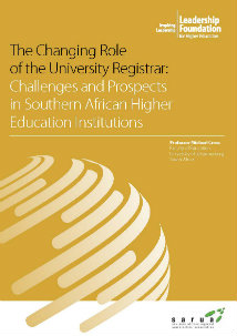 The Changing Role of the University Registrar: Challenges and Prospects in Southern African Higher Education Institutions
