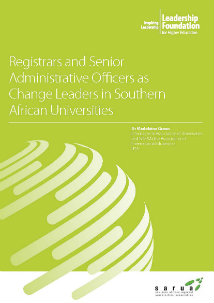 Registrars and Senior Administrative Officers as Change Leaders in Southern African Universities