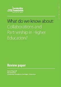 What do we know about: Collaborations and Partnerships in Higher Education?