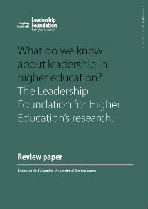 What do we know about leadership in higher education?
