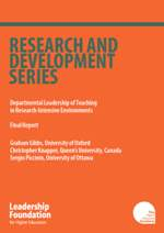 Departmental Leadership of Teaching in Research-Intensive Environments - Final Report