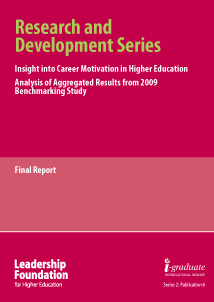 Understanding Career Motivation in Higher Education, Analysis of Agregated Results from 2009 Benchmarking Study
