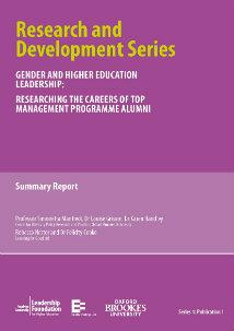 Gender and Higher Education Leadership: Researching the careers of  TMP alumni