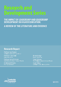 The Impact of Leadership and Leadership Development in Higher Education: A Review of the Literature and Evidence
