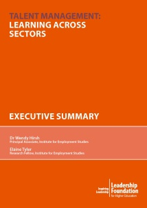 Talent Management: Learning Across Sectors - Executive Summary