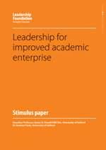 Leadership for Improved Academic Enterprise