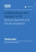 Collaborations and Mergers in HE: Lessons Learned and Future Prospects
