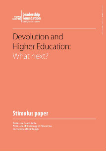 Devolution and Higher Education: what next?