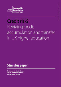 Credit Risk? Reviving credit accumulation and transfer in UK higher Education