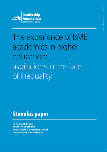 The experience of BME academics in higher education: aspirations in the face of inequality