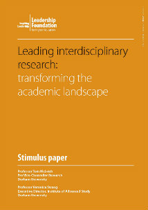Leading interdisciplinary research: transforming the academic landscape