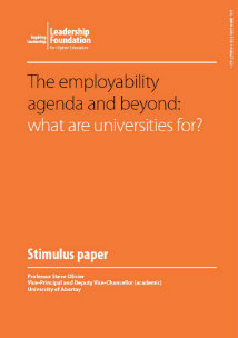The employability agenda and beyond: what are universities for?
