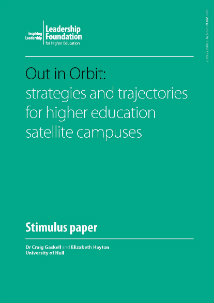 Out in Orbit: strategies and trajectories for higher education satellite campuses