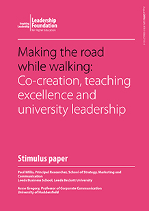 Making the road while walking: Co-creation, teaching excellence and university leadership
