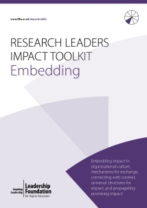 Research Leader's Impact Toolkit - Embedding