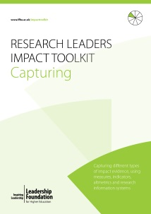 Research Leader's Impact Toolkit - Capturing
