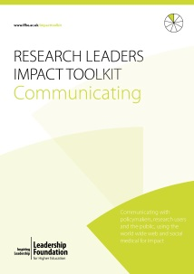 Research Leader's Impact Toolkit - Communicating
