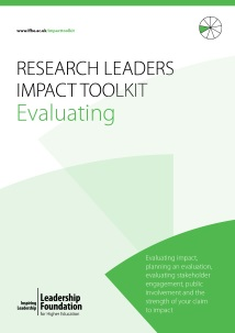 Research Leader's Impact Toolkit - Evaluating