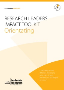 Research Leader's Impact Toolkit - Orientating