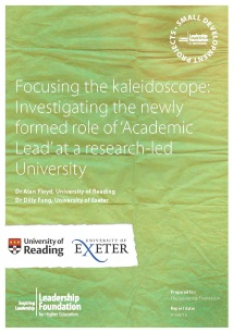 Focusing the kaleidoscope: Investigating the newly formed role of 'Academic Lead' at a research-led University: Final Report