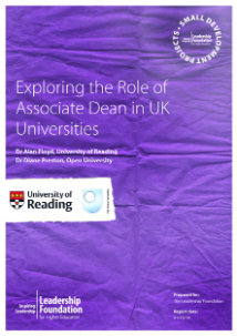 Exploring the Role of Associate Dean in UK universities: Final Report