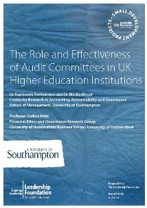 The Role and Effectiveness of Audit Committees in UK Higher Education Institutions: Final Report