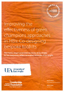 Improving the effectiveness of green champions approaches in HEIs: Co-designing bespoke toolkits: Final Report