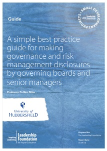 A simple best practice guide for making governance and risk management disclosures by governing boards and senior managers