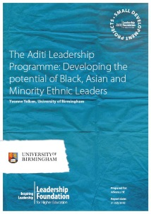 The Aditi Leadership Programme: Developing the potential of Black, Asian and Minority Ethnic Leaders