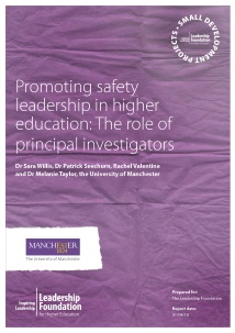 Promoting safety leadership in higher education: The role of principal investigators