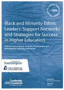 Black and Minority Ethnic Leaders: Support Networks and Strategies for Success in Higher Education