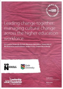 Leading change together: managing cultural change across the higher education workforce