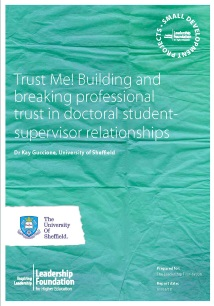 Trust Me! Building and breaking professional trust in doctoral student supervisor relationships