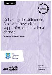 Delivering the difference: A new framework for supporting organisational change