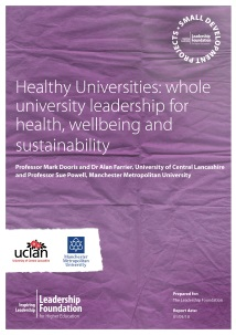 Healthy Universities: Whole University Leadership for Health, Wellbeing and Sustainability