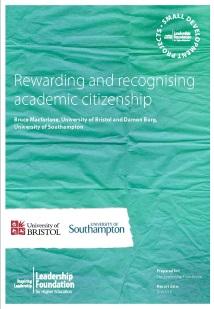 Rewarding and recognising academic citizenship