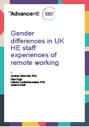 Gender differences in UK HE staff experiences of remote working