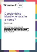 Podcast transcript: Decolonising identity: what's in a name?